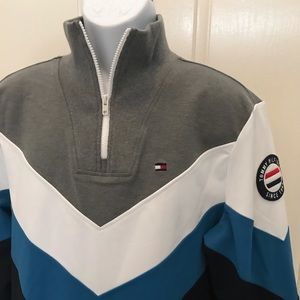 NEW w/Tag-Men's TOMMY HILFIGER Zip Pullover L